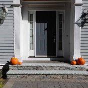 front walkway veneer stone steps with bluestone treads