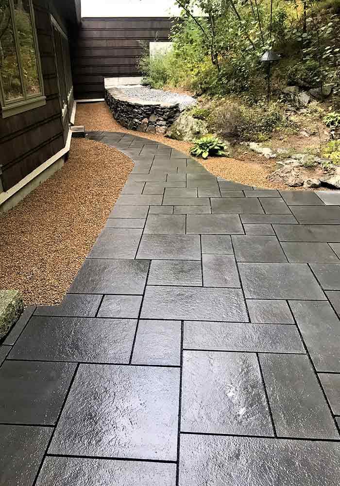 Custom stone walkway.