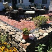 Brick Patio and stonework